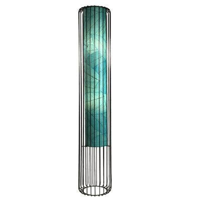 """Eangee Home Design Wired 48"""" Column Floor Lamp Shade Color: Sea Blue"""