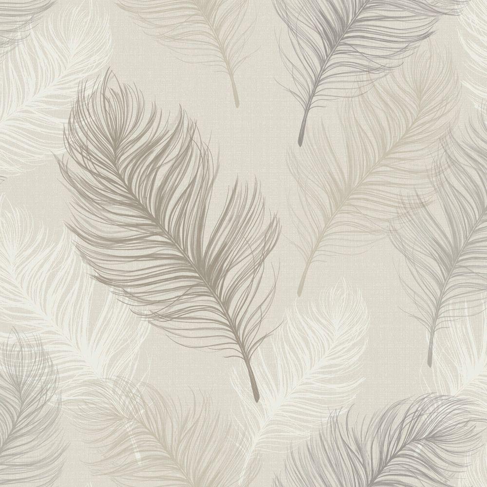 Home diy wallpaper illustration arthouse imagine fern plum motif vinyl - Whisper Taupe Wallpaper By Arthouse