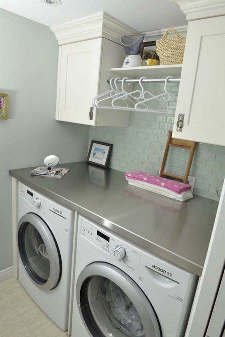 68 stunning diy laundry room storage shelves ideas