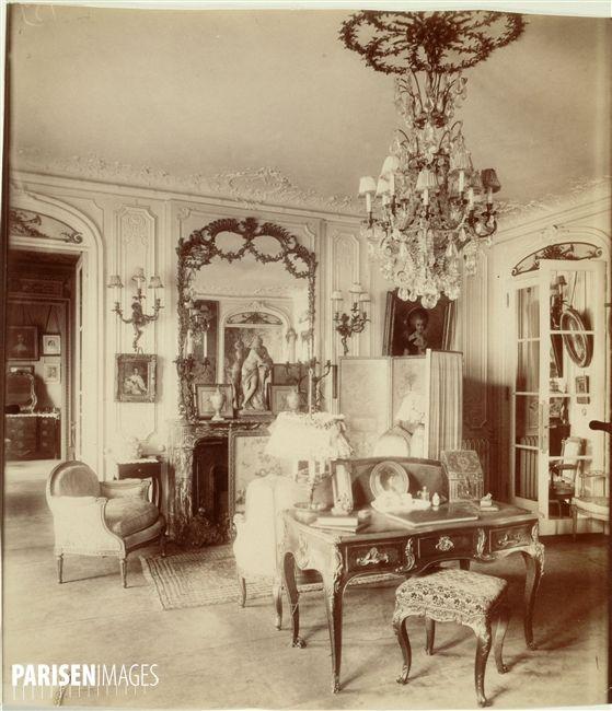 int rieur de mademoiselle sorel 1873 1966 actrice fran aise avenue des champs elys es paris. Black Bedroom Furniture Sets. Home Design Ideas