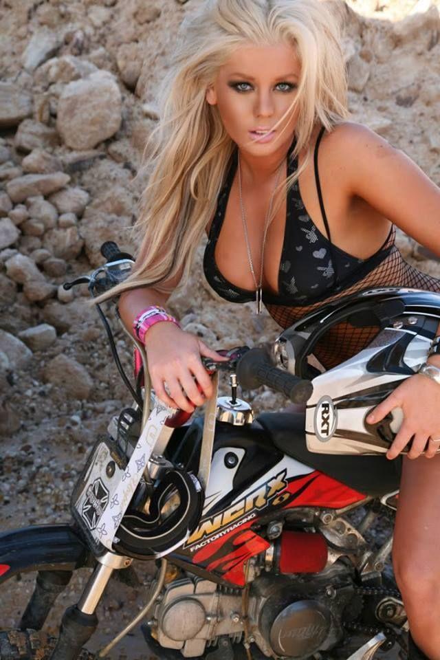 A Girl Model A Bikini On With A Suzuki Dirt Bike By Bradyrichie On Deviantart
