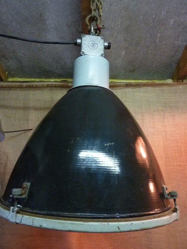 Attraktiv Grote Oude Zwarte Industriele Lamp | INDUSTRIËLE LAMPEN | Goldiebrocante