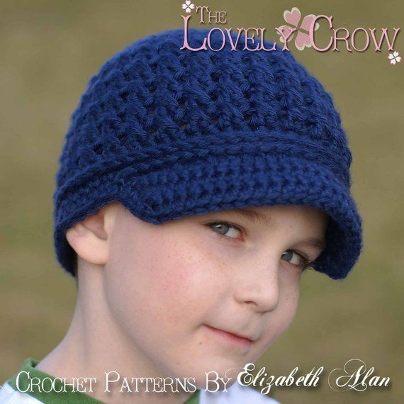 Newsboy Hat Crochet Pattern LITTLE SPORT NEWSBOY hat digital | Mütze ...