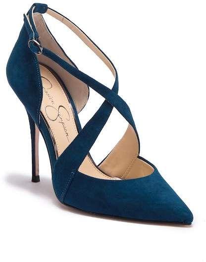 Jessica Simpson Wixen Suede Strap Heel Strap Heels Heels