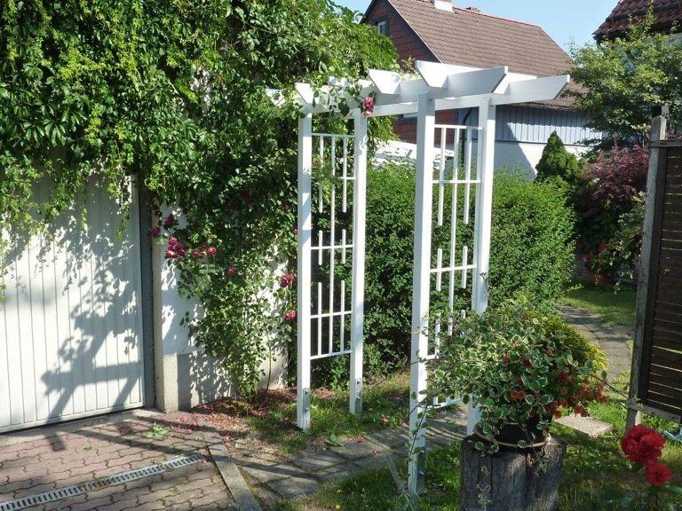 holz rosenbogen pergola tor flora rosenspalier kletterhilfen rankhilfen spalier. Black Bedroom Furniture Sets. Home Design Ideas