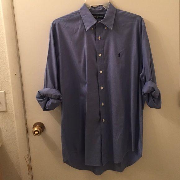 Ralph Lauren dress shirt Good condition, beautiful blue Ralph Lauren Tops Button Down Shirts