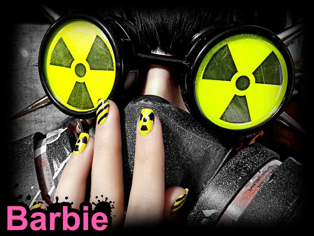 Radioactive Nails by BarbieNailArt on DeviantArt