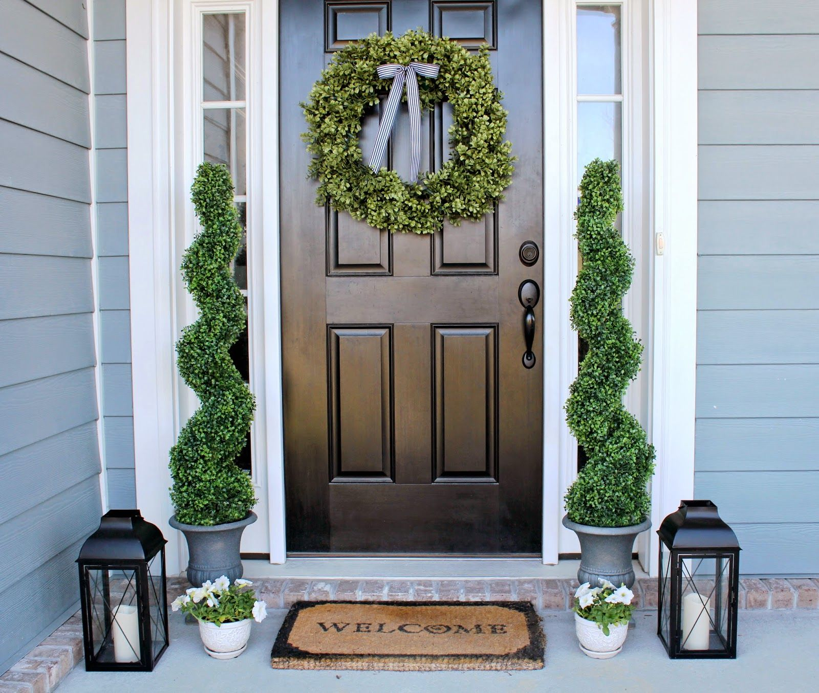 20 Pretty Topiaries for the Front Porch - The Craft Patch  Porch