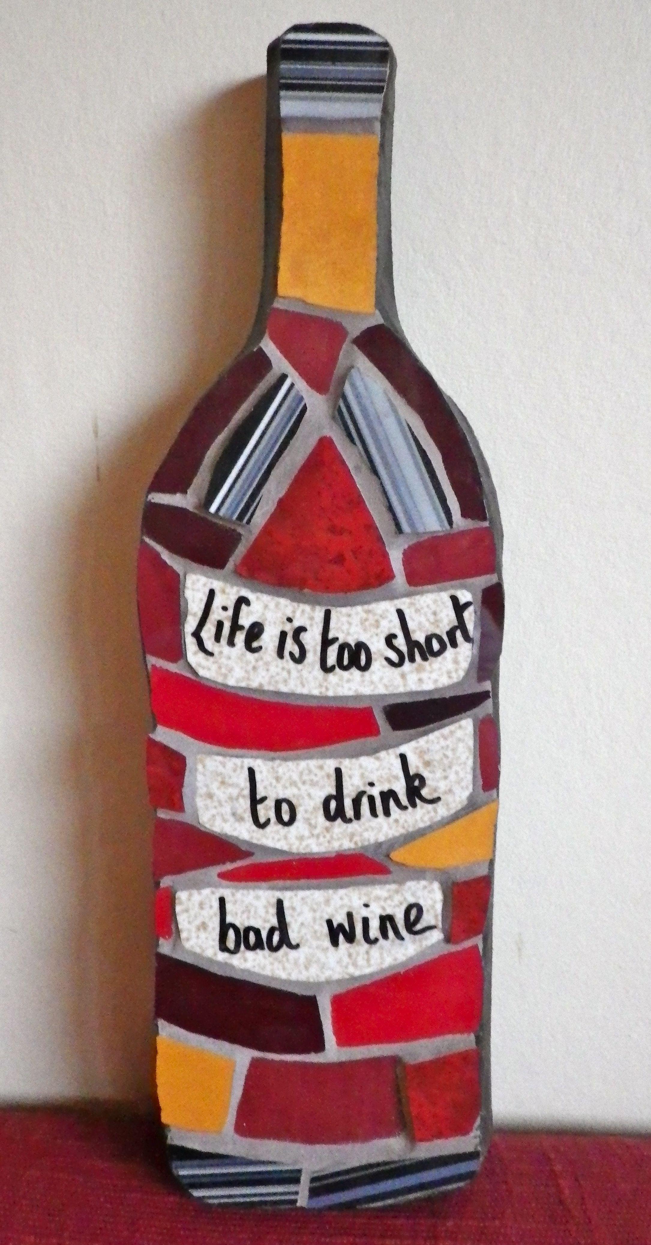 Mosaic Wine Bottle It Speaks For Itself Mosaic Bottle Glass Bottles Art