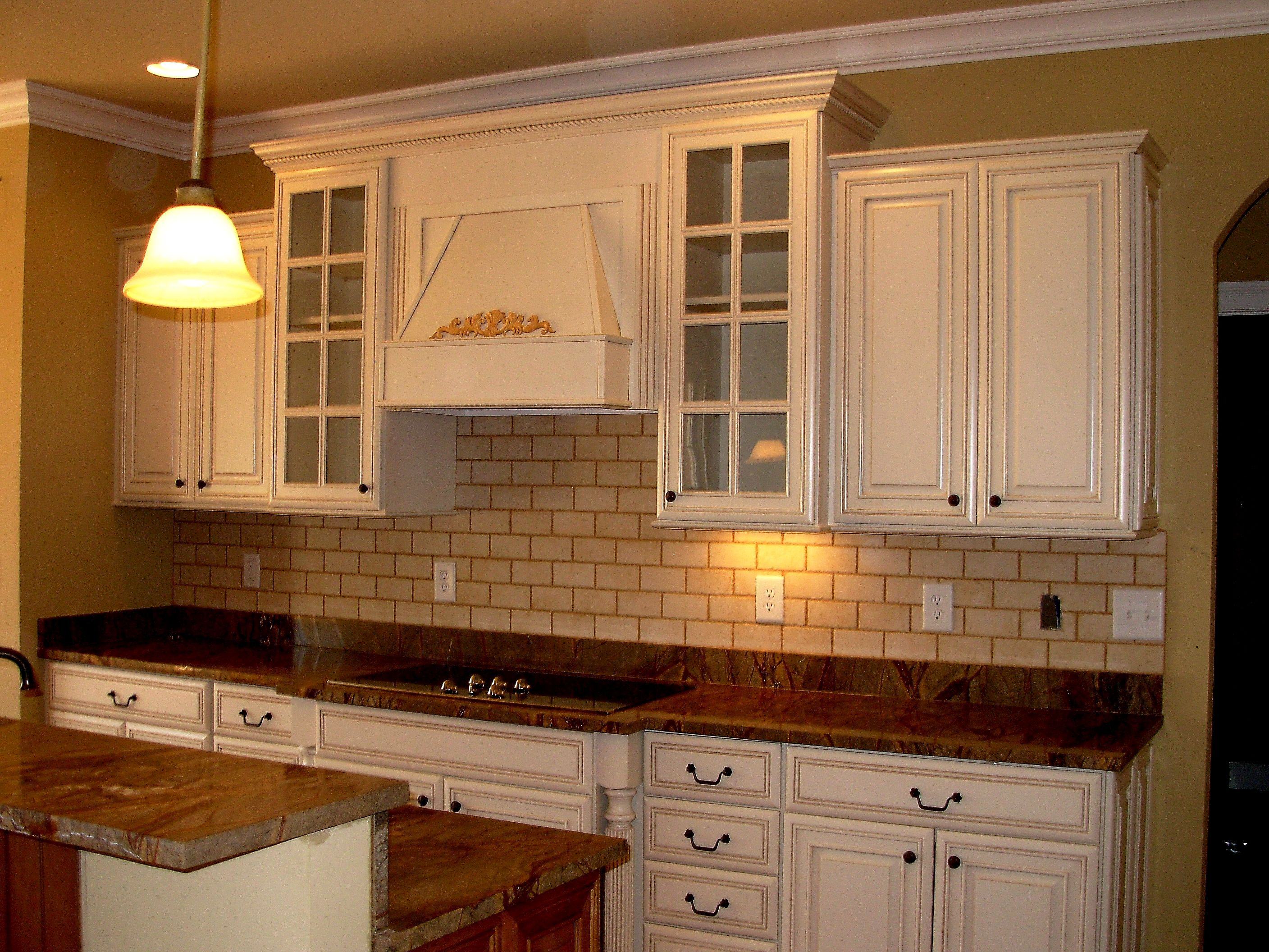Rainforest Brown Countertops, White Cabinets, Luxe Homes And Design,  Knoxville Builder