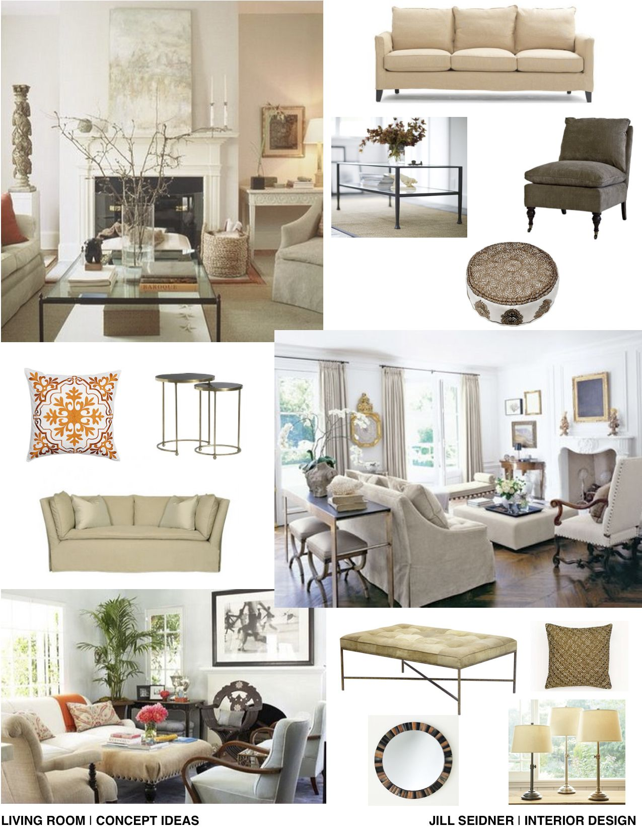 Help Designing A Room: Concept Board For Living Room Project.