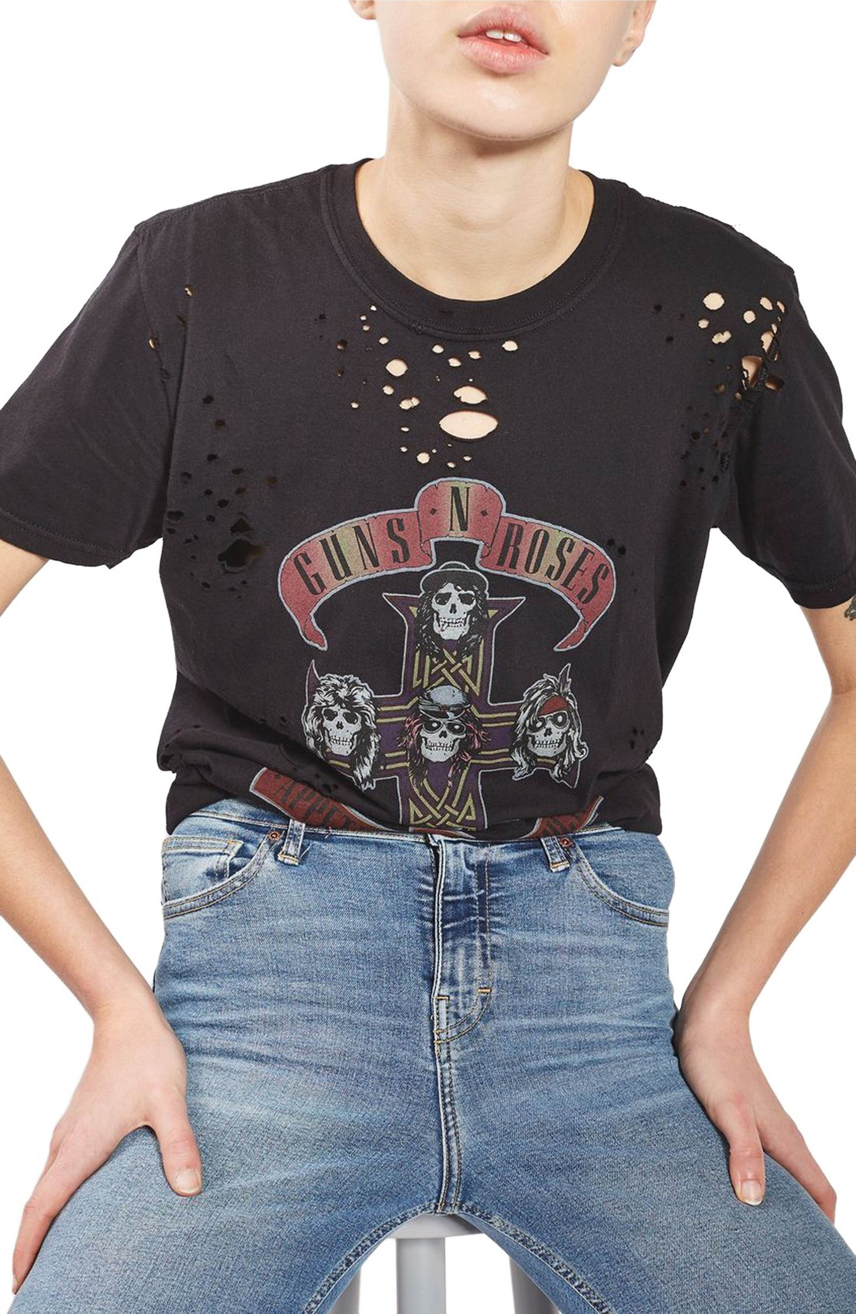 920545f33 Shirts Image Tee Clothes Main Roses amp  Topshop Guns Nibbled p1nxpwgZq8