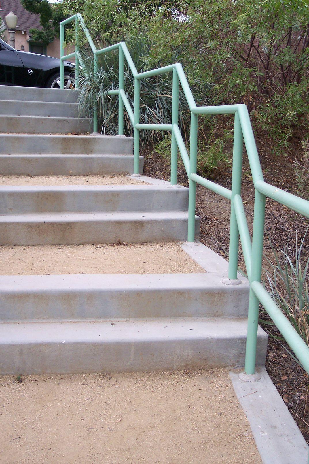 Concrete Formed Permeable Decomposed Granite Stairway