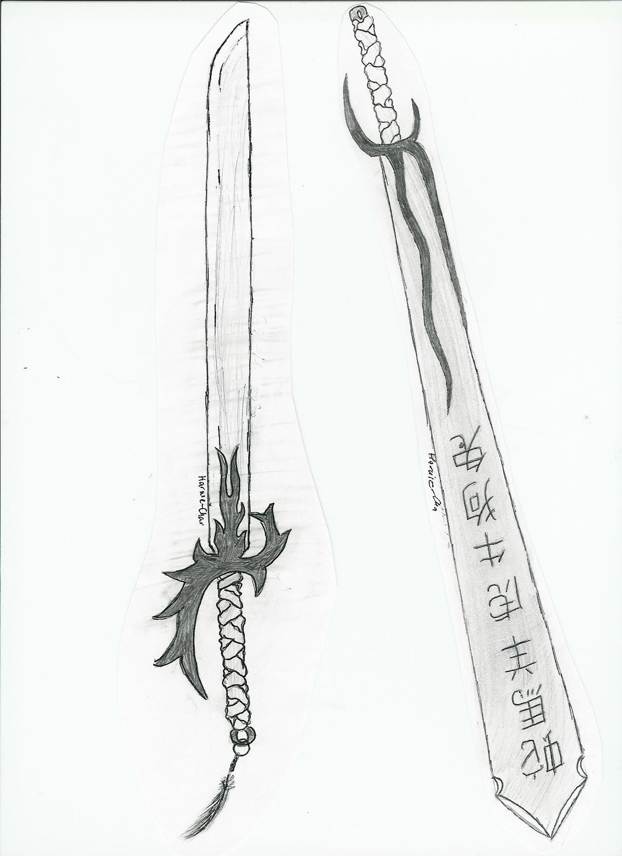 Drawn anime sword 4