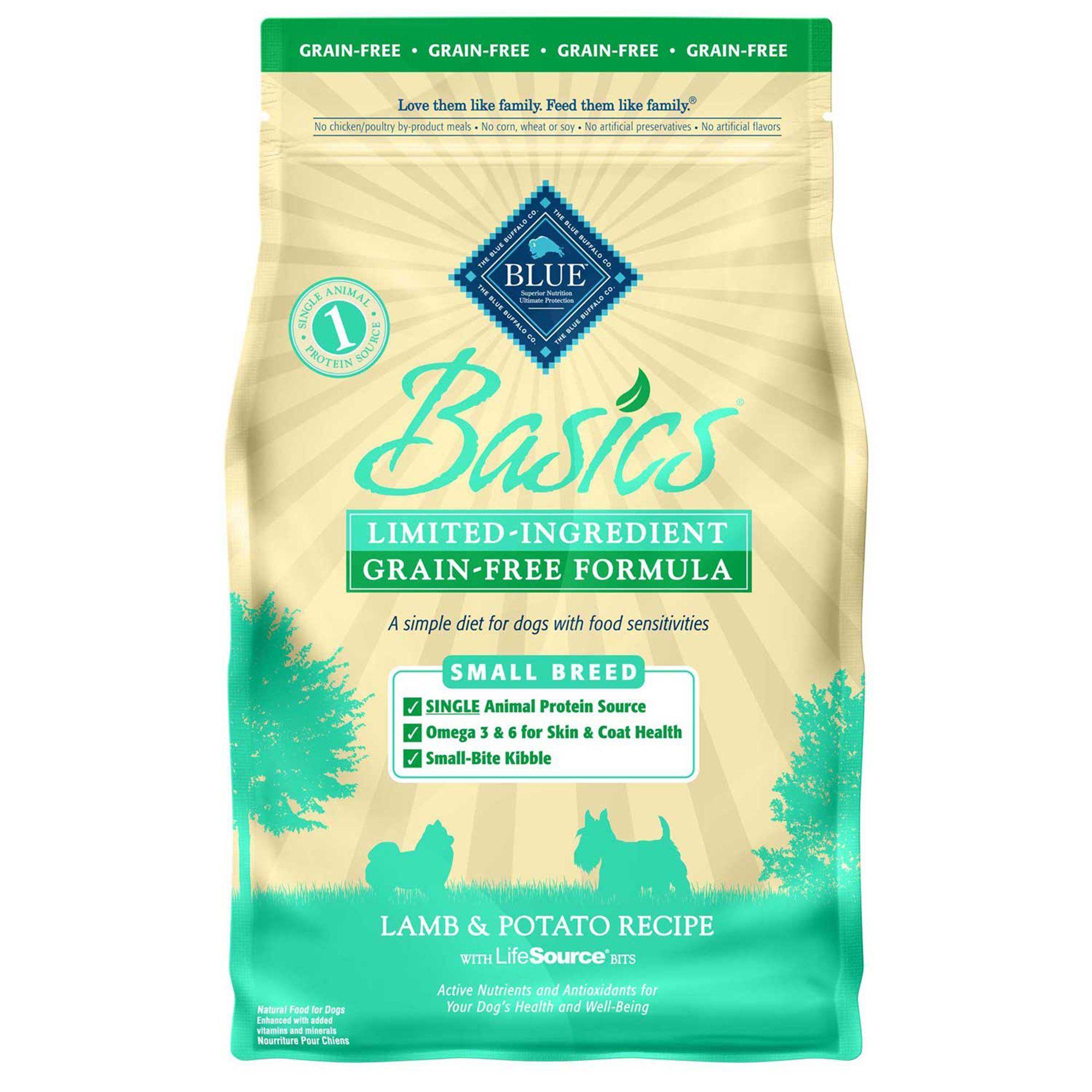 Blue Buffalo Blue Basics Grain Free Lamb Potato Recipe Small