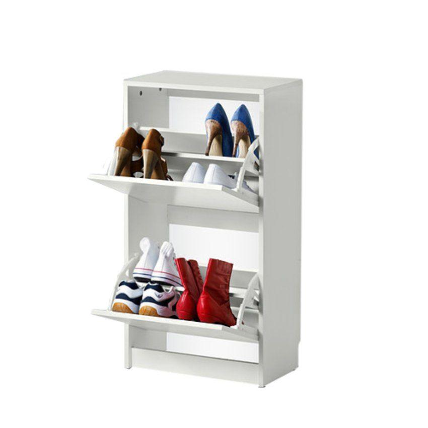 Ikea 2 Compartment Shoe Cabinet White