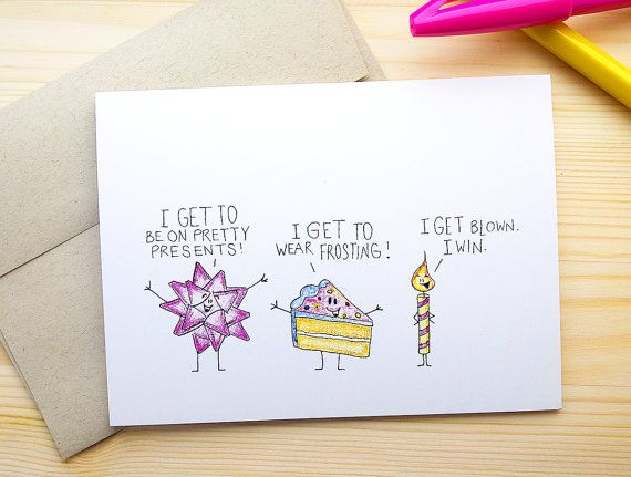 Funny Birthday Card For Him Dirty By OkSillyInk
