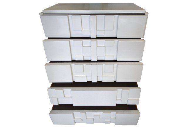 Lacquered Lane Mosiac Block Tall Dresser