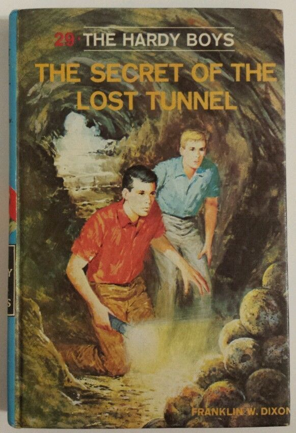 Vtg Hardy Boys Book The Secret of the Lost Tunnel No 29 1968 Hardcover Ages 9-12