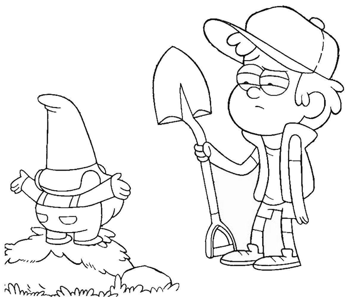 Free Download Gravity Falls Coloring Pages Di 2020