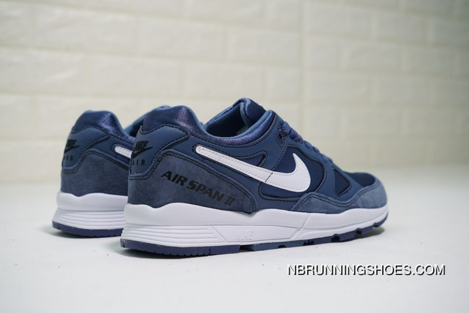 83542d42f8239 Nike Air Span II AH8047-400 Low Mens Retro Running Shoes Lifestyle Sneakers  Dark Blue