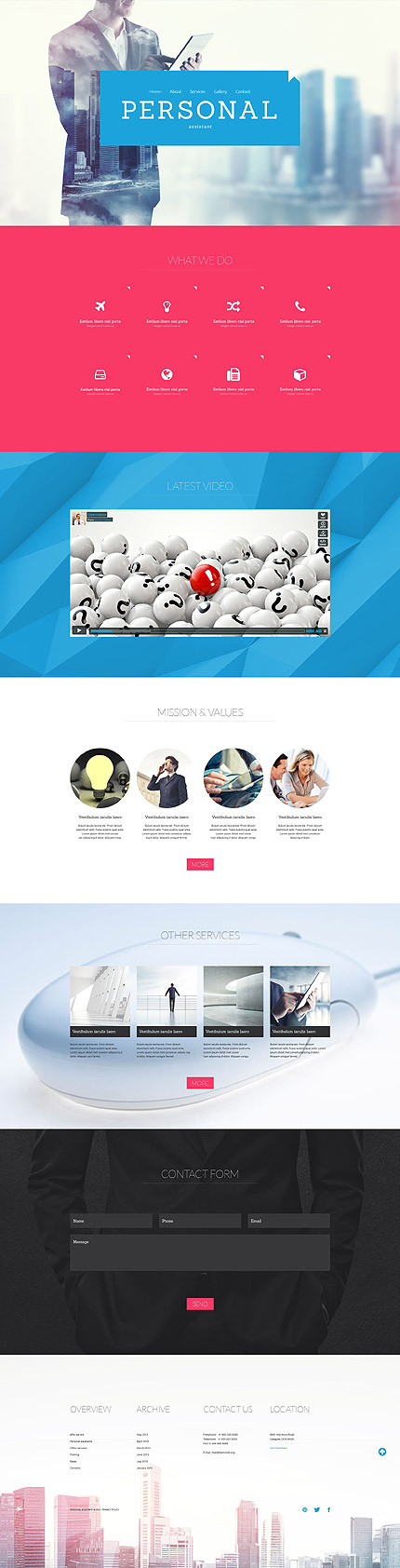 Personal Company Website Template Themes Business Responsive
