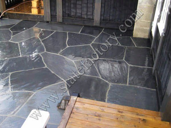 Black Slate Flagstone Patio 05 Quarry Manufacturer
