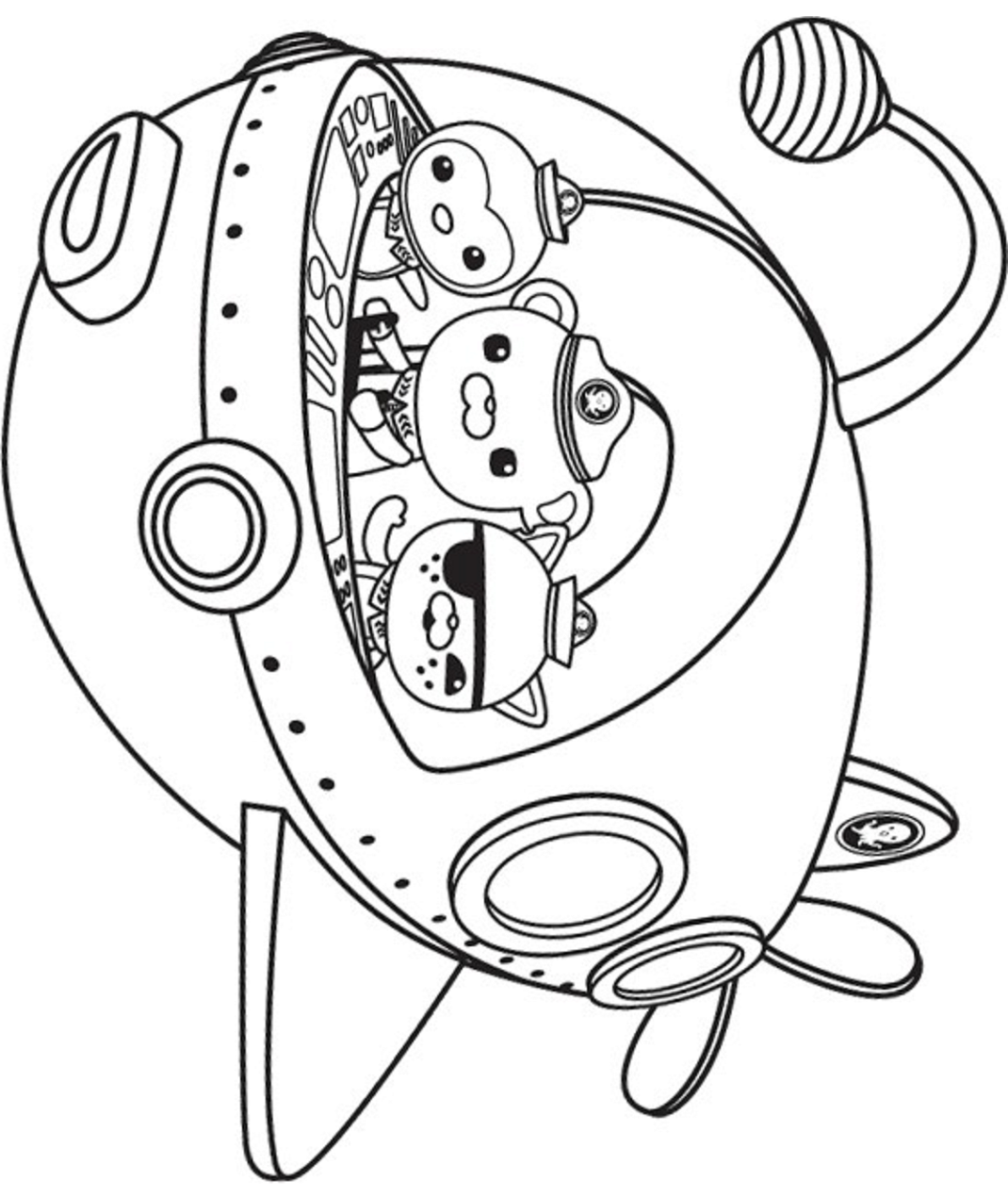 Peso Captain Kwazii In Octonauts Ship Page Coloring Pages Free Printable Coloring Printable Coloring Pages