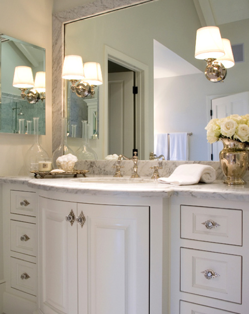 Curved Bathroom Vanity Traditional Bathroom Jennifer Davis