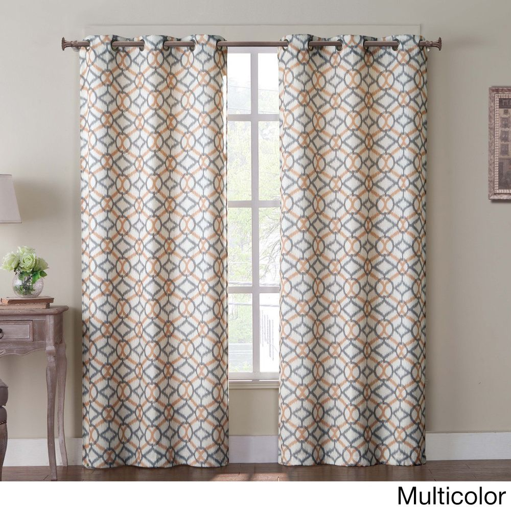 Tanjiers Ikat Grommet 84-inch Curtain Panel Pair - Overstock™ Shopping - Great Deals on Victoria Classics Curtains $39.99