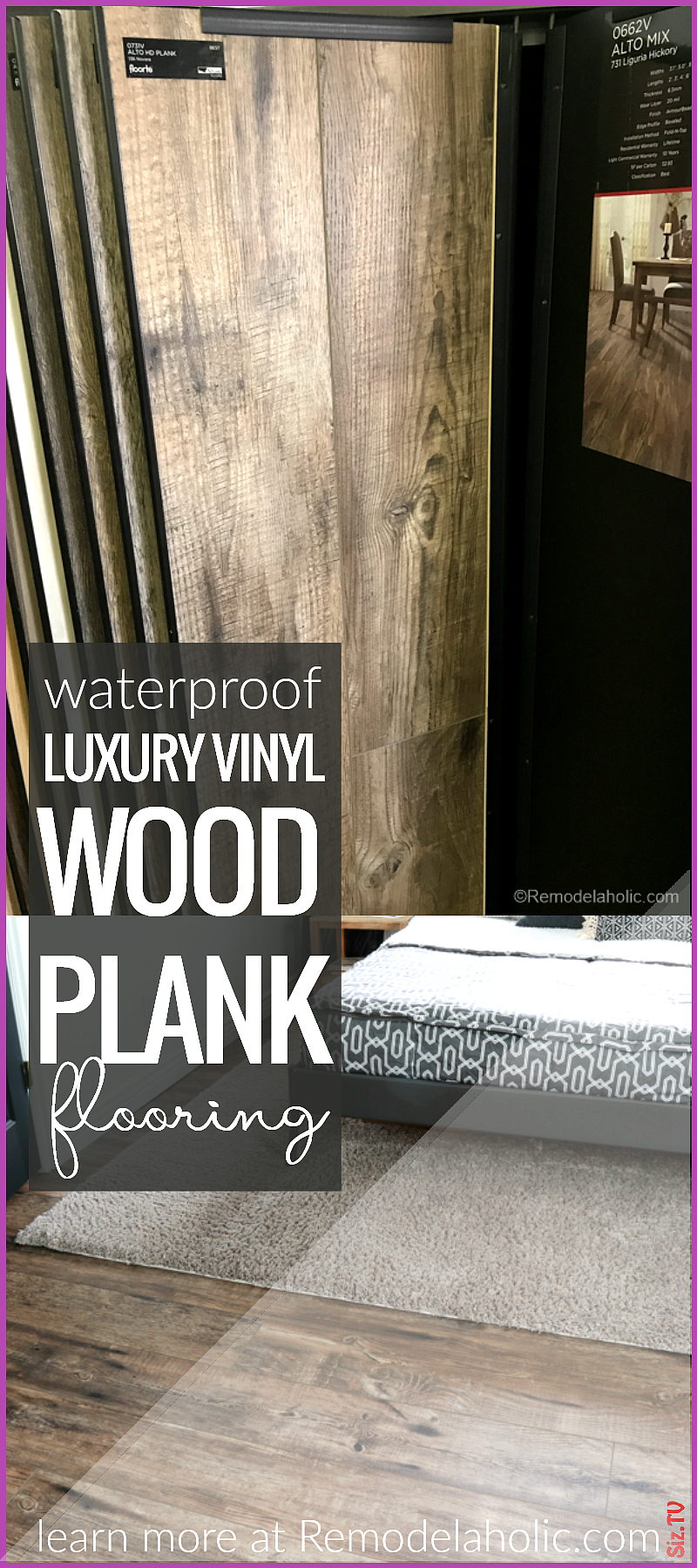 A new project with NEW luxury vinyl wood plank floors A