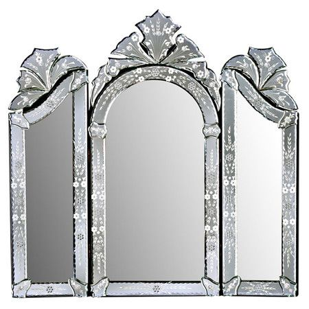 found it at wayfair monet 3 piece wall mirror set in silver mirror mirror on the wall. Black Bedroom Furniture Sets. Home Design Ideas
