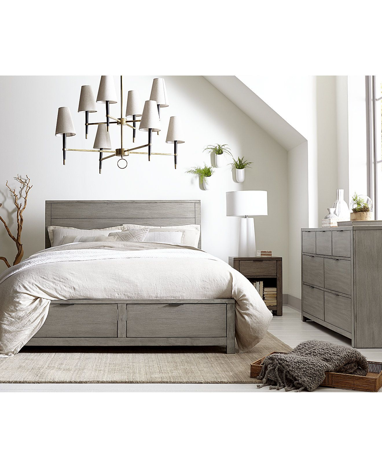 Furniture Tribeca Storage Platform Bedroom Furniture Collection Created For Macy S Reviews Furniture Macy S Storage Furniture Bedroom Grey Bedroom Set Grey Bedroom Furniture