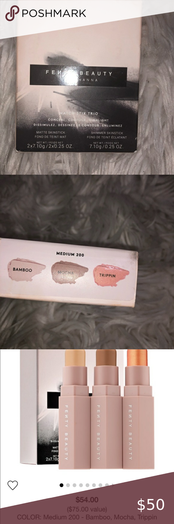 FENTY beauty contour match stix FENTY beauty contour match stix New Mocha trippin bamboo exclusive Smooth concealer Fenty Beauty Makeup Source by ashluv123416 Beauty