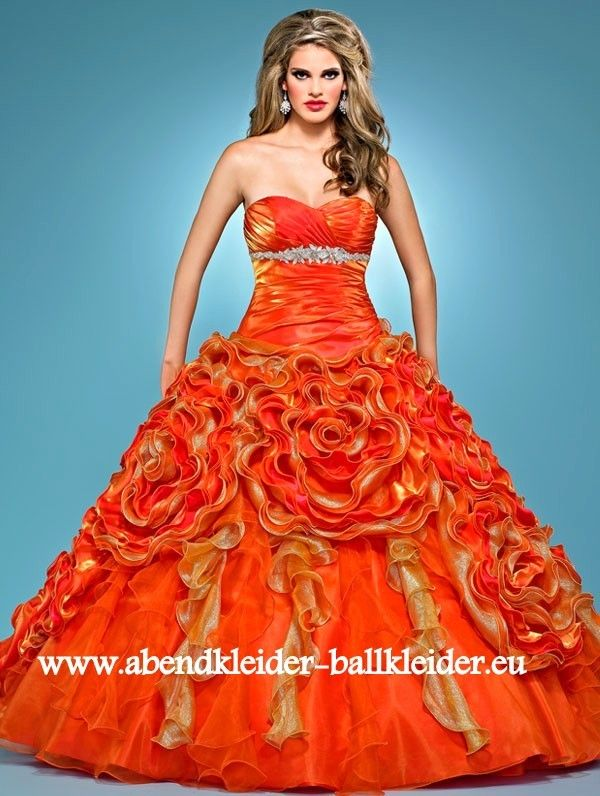 Abend - Ballkleid Online in Orange | Brautkleid | Pinterest ...