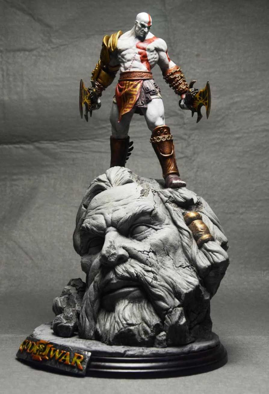 """God of War 17/"""" Kratos Collector/'s Edition Painted Figure Statue Resin Mode"""