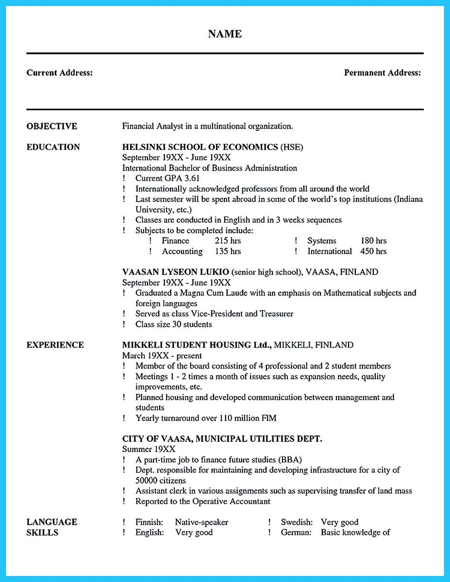 nice Cool Credit Analyst Resume Example from Professional