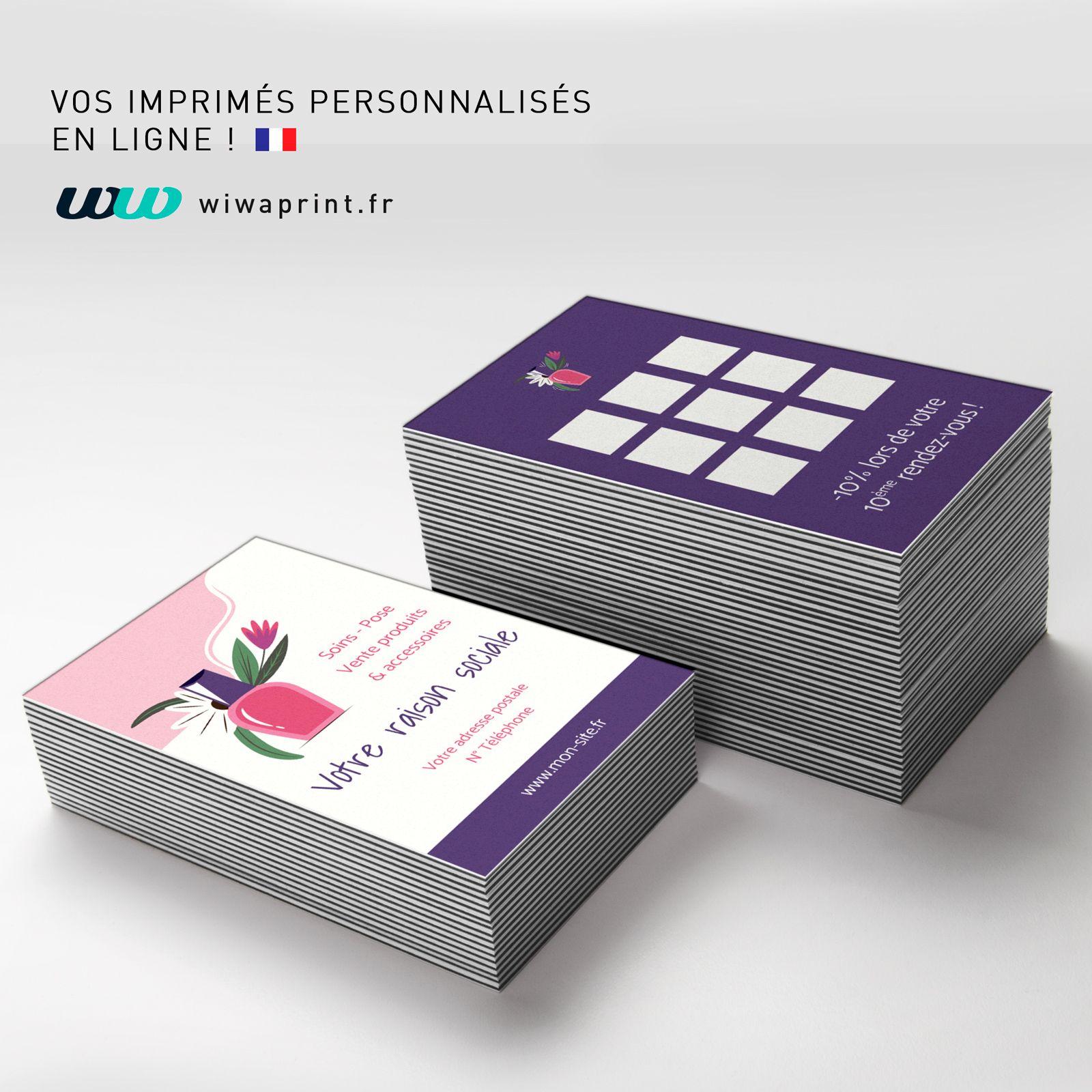 Modle De Carte Visite Fidlit Pour Une Professionnelle Du Domaine Longlerie