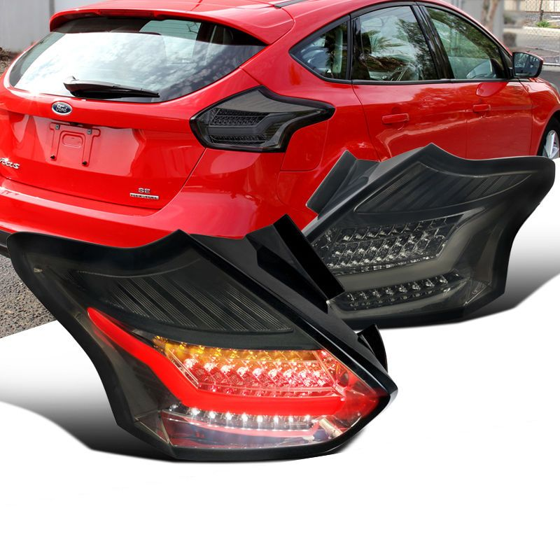 2015 2016 Ford Focus 5d Hatchback Led Tail Lights Smoked Ford Focus Hatchback Ford Focus Hatchback