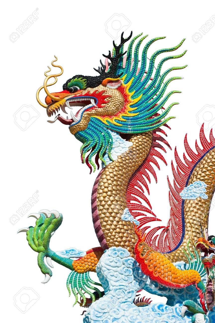 Stock Photo Simurgh Fenice Firebird Sfondo Bianco Sfondi E Dragon