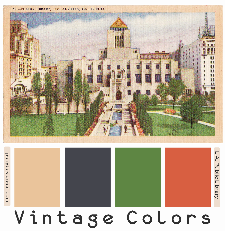 PonyBoy Press: Vintage Color Palettes - Public Library