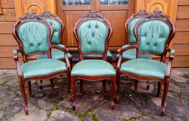 Krzesla I Fotele Stylowe Ludwik Filip Komplet Do Jadalni Antyki Bialystok Image 1 Home Decor Decor Chair