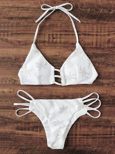 Estampado PalmeraGamiss De Bikini Reme Sets Con Abertura 5ARjL34q