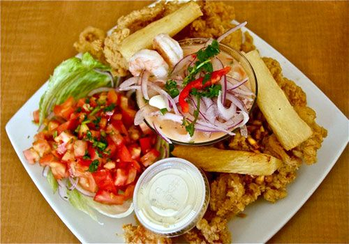 Boston Ceviche And Fried Seafood At Rincon Limeno Ceviche Food Seafood