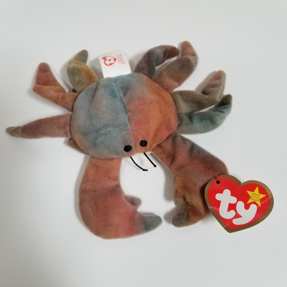 Details about original ty teenie beanie claude the crab stuffed