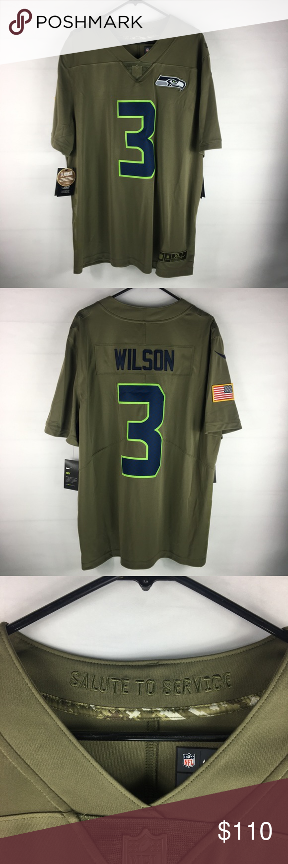 Nike NFL Salute to Sevice Russell Wilson Jersey NWT  71ec3ff25