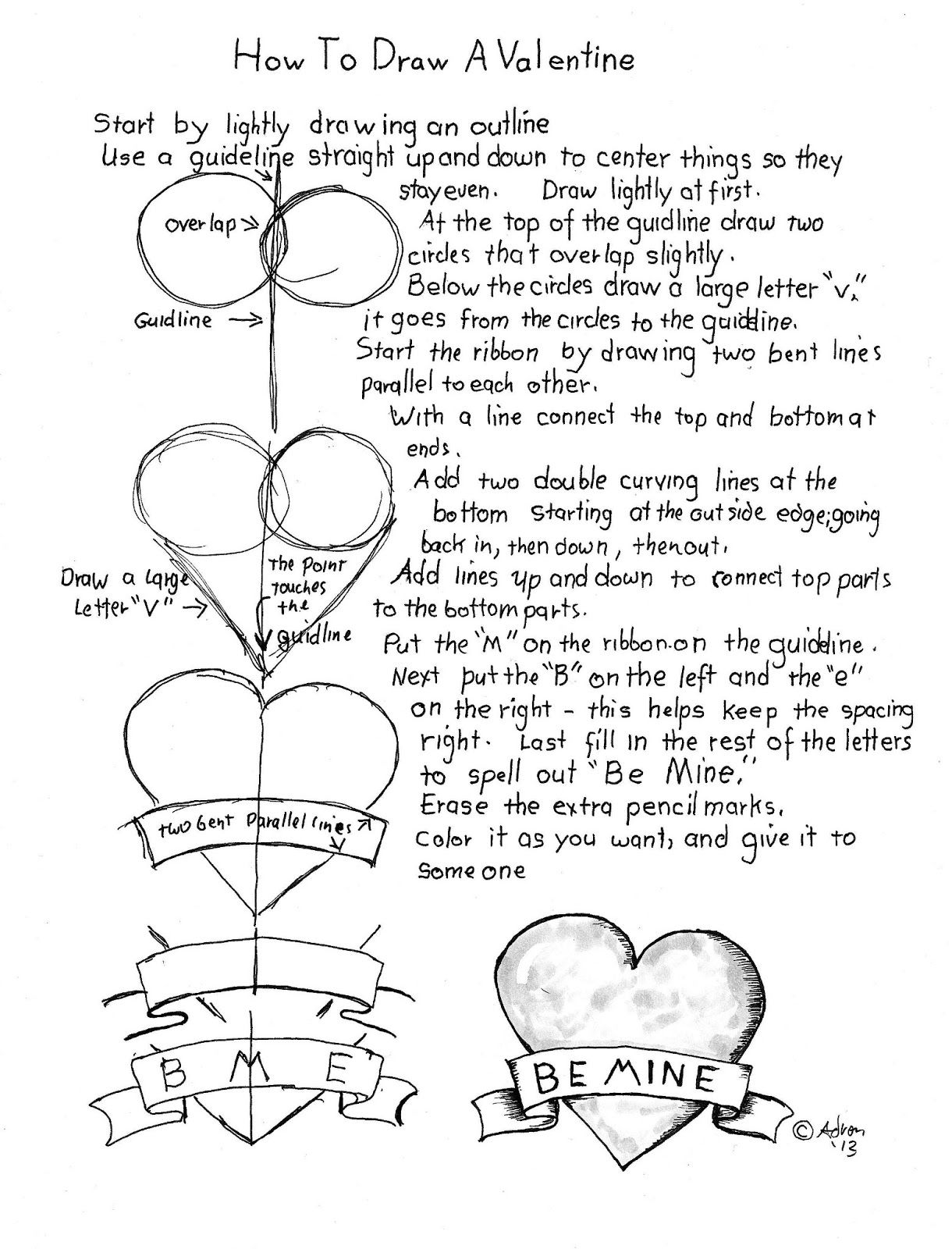 How To Draw A Valentine Worksheet Tips And Suggestions At