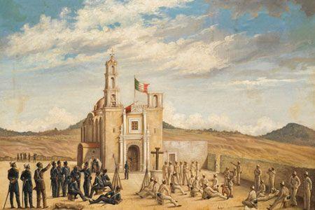 Descanso Despues De La Batalla 4 4 De La Serie Batalla De Puebla Patricio Ramos Ortega 1862 Oleo Historia De Mexico Cultura De Mexico Historia Mexicana
