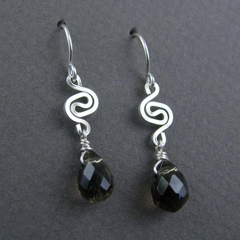 Wire Jewelry Free Patterns | YOJ10-08 Celtic Spiral Smoky Quartz ...