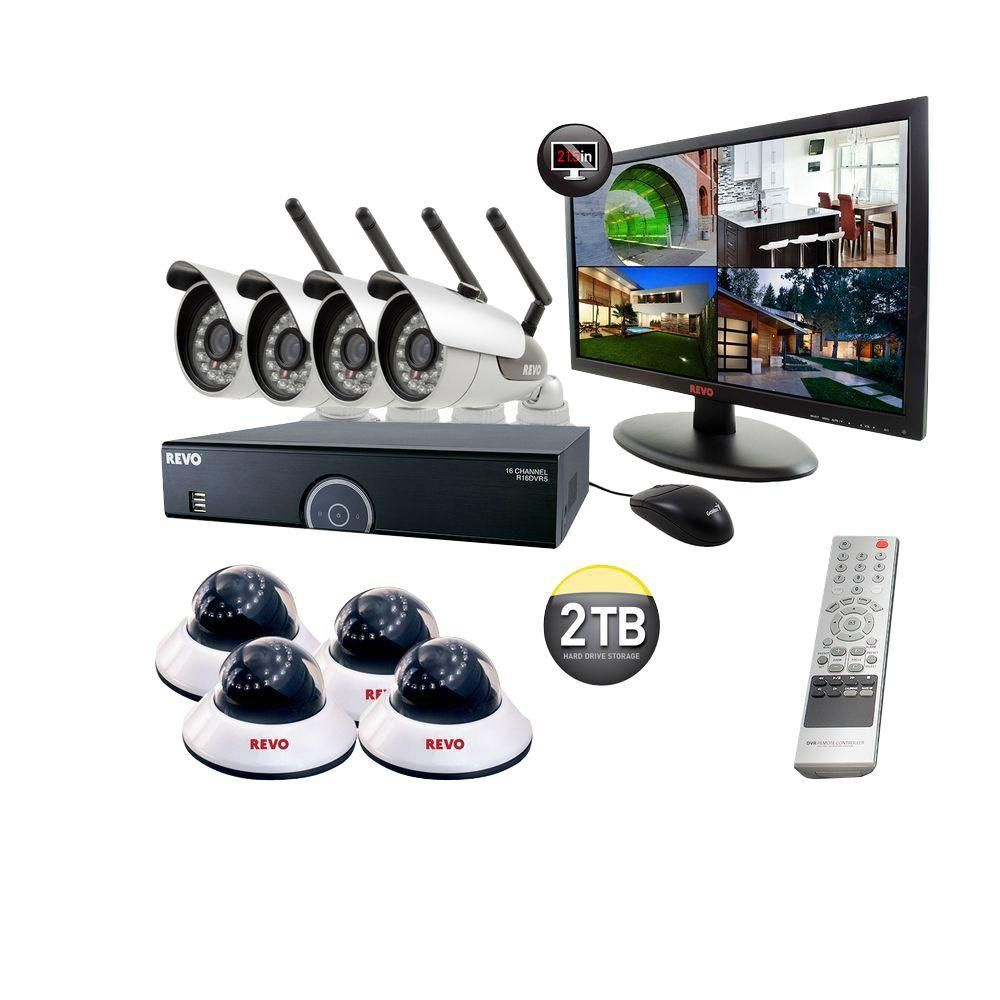 Revo 16-Channel 2TB DVR Surveillance System with 4 Wireless Bullet ...